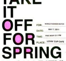 Take-off-spring