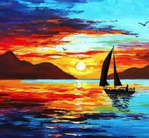 Painting-lounge-sunset-voyage-2