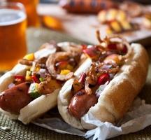 Hotdog-beer